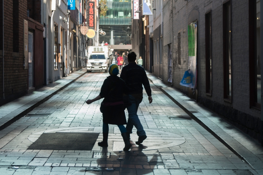 Andrew Follows. 'City laneway, Melbourne' 2015